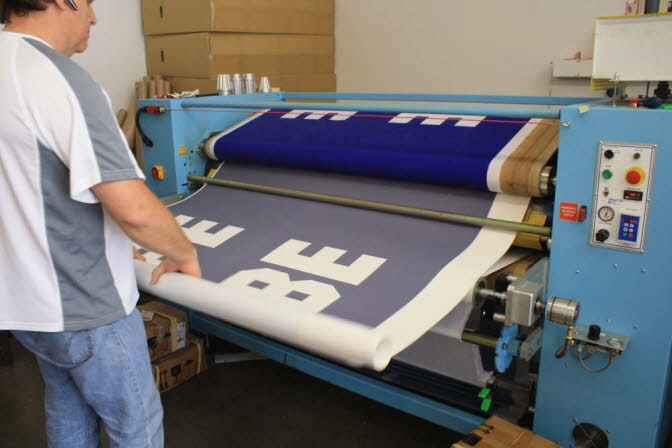 WE USE PAPER TO HEAT PRESS FOR VIBRANT RESULTS